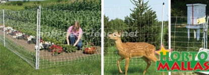 Anti deer fence mesh for protection of plants and crops of wild and pest animals